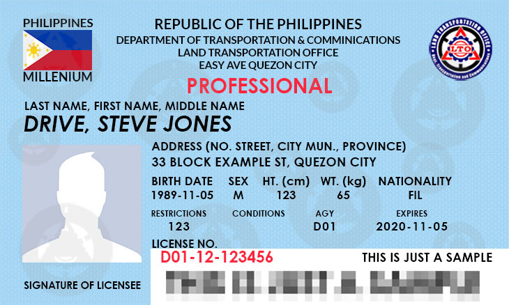 drivers license number code philippines